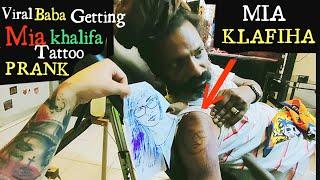 Viral Baba Getting Mia Khal!fa Tattoo  Prank || VIRAL BABA PRICELESS REACTION | Prank Video