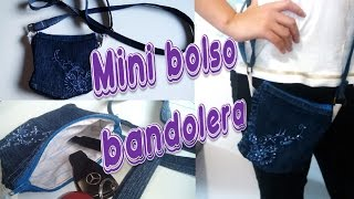 Bolsito tipo BANDOLERA 👜  ❤ (Reutilizando telas ツ )