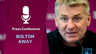 Press Conference: Bolton away