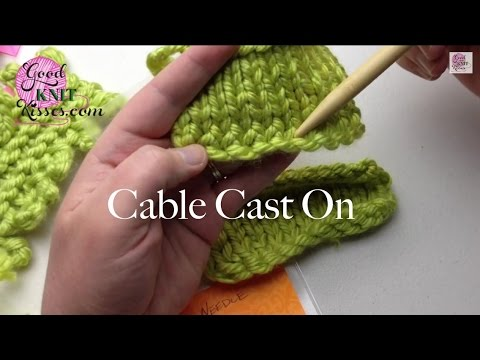 Cable Cast On Knitting On Needles Closed Captions Cc Youtube