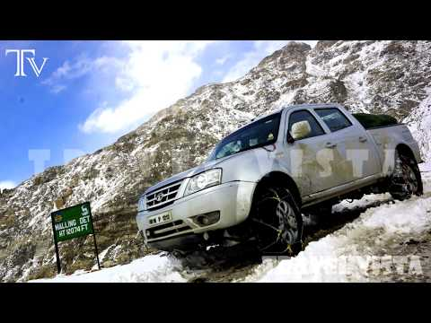 Kunzum Pass - Spiti Valley  Himalayan Mountain Roads 4K video