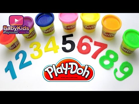 Play-doh Learning Numbers - Baby Kids Education Video Collection - Modeling colors for Toddler