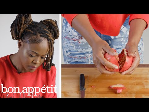 50 People Try to Deseed a Pomegranate | Basic Skills Challenge | Bon Appétit