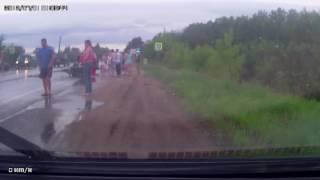 Авария с мотоциклистом на Бежецком шоссе 7.08.16