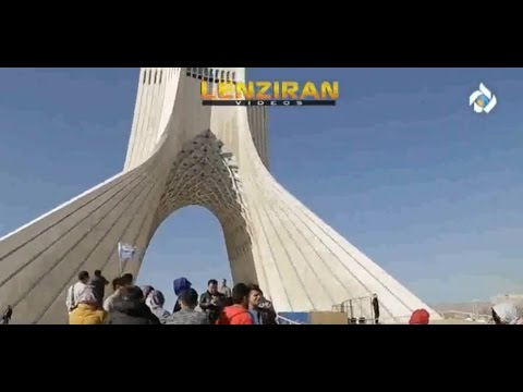 Visiting 'Shahyad Aryamehri' a landmark  of the town of Tehran