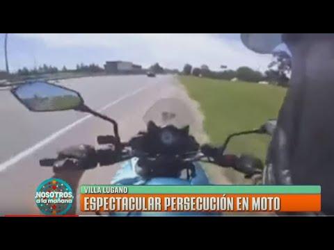 Espectacular persecución en moto por parte de la Policía de la Ciudad