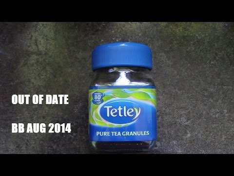 Chaz Reacts Tetley Freeze Dried Tea out of date 2014