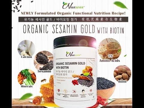 Nuewee Organic Sesamin Gold with Biotin