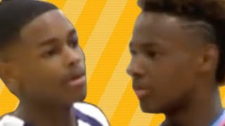 bronny jr shuts up trash talking kid on the court