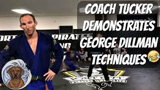 Coach Tucker working on George Dillman techniques at SaltyDog BJJ