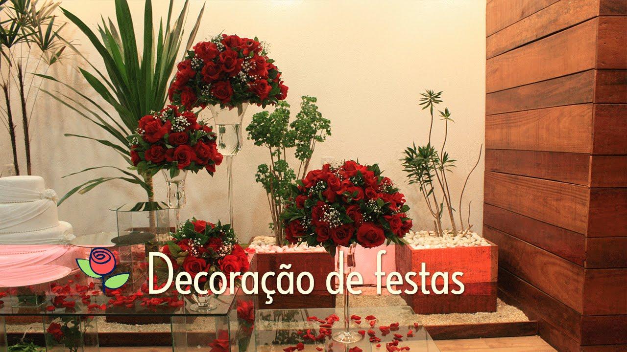 Fabuloso Decoração Festas de Casamento em Rosas Vermelhas - YouTube SC54