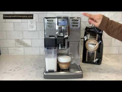 How To Program Volume And Clean Gaggia Anima Prestige Espresso Machine