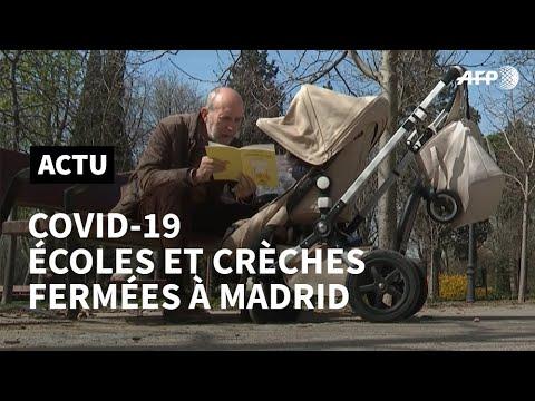 Coronavirus: à Madrid, écoles fermées et grands-parents réquisitionnés | AFP News