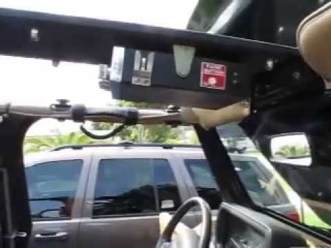 Cb Rack Mounted On My Jeep Tj Youtube