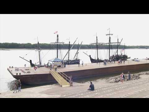 Replicas of Columbus' Ships Make a Stop in Cape Girardeau