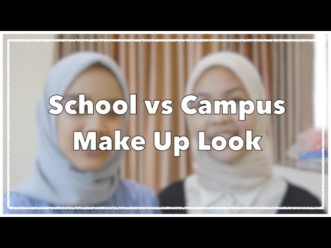 BACK TO SCHOOL vs BACK TO CAMPUS MAKE UP LOOK | INDONESIA | ARSYA X MILLA