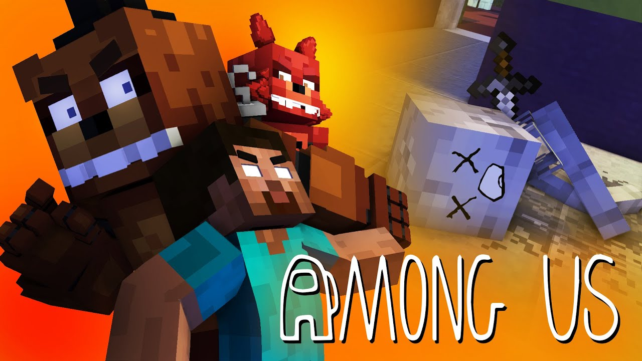Monster School : AMONG US 2 WITH FNAF - Minecraft Animation
