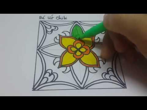 Vẽ giải trí/Draw Square/ Cách trang trí hình vuông với 5 màu cơ bản nhất