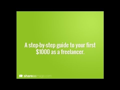How to Earn Your First $1000 as a Freelancer