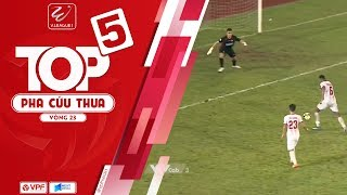 Top 5 pha cứu thua ấn tượng vòng 23 V.League 2018   VPF Media