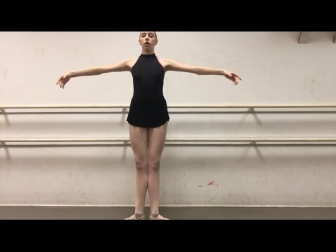 How to stand like a ballerina