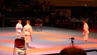 Kids Kata + Bunkai UNSU @ World Karate Championships 2014 Bremen