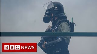 Protesters arrested as they run from Hong Kong campus - BBC News thumbnail