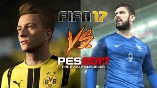 FIFA 17 VS PES 17   NEW OFFICIAL GAMEPLAY