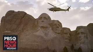 Native Americans protest Trump's Mt. Rushmore rally