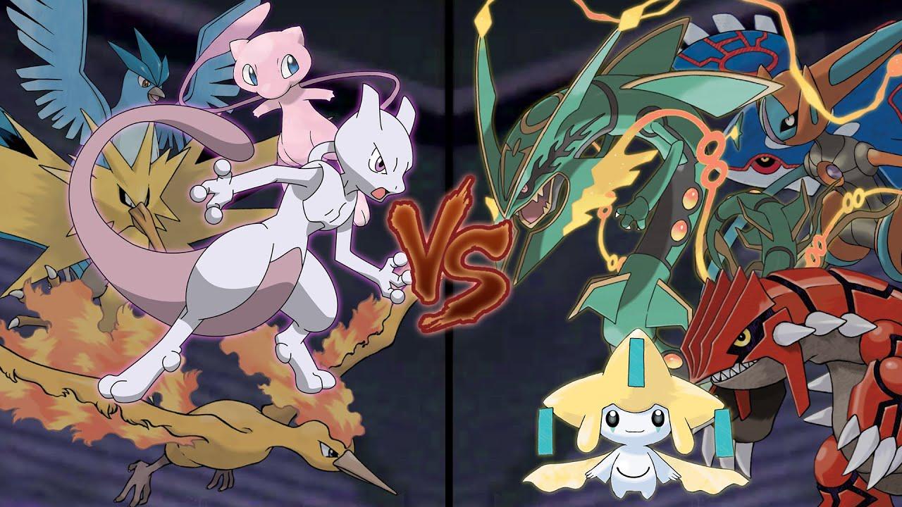 Pokemon Legendary Battle: Kanto Legendaries Vs Hoenn ...