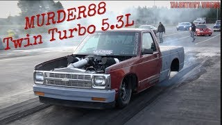 Murder88 Twin Turbo S10 Is For Sale! No Prep Grudge Racer