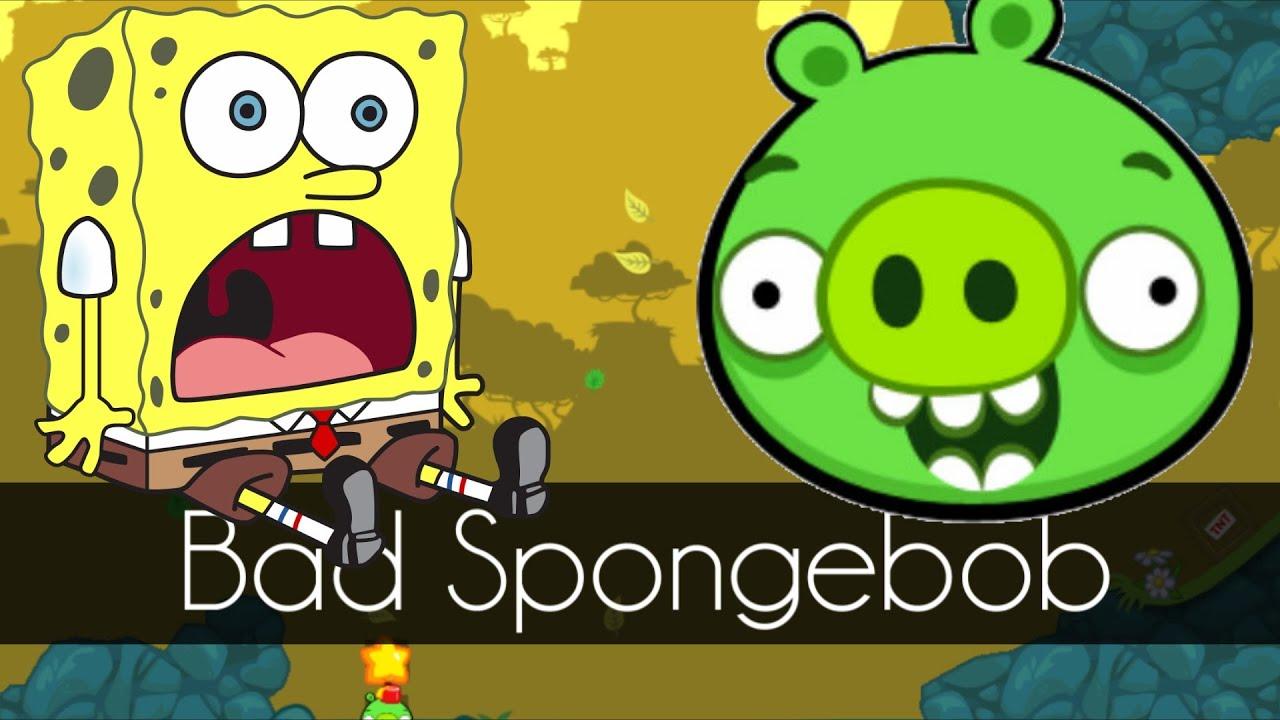 bad piggies bad spongebob mini bad piggies game part. Black Bedroom Furniture Sets. Home Design Ideas
