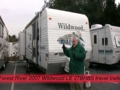 Forest River Wildwood >> *SOLD* Forest River 2007 Wildwood LE 27BHBS travel trailer ...