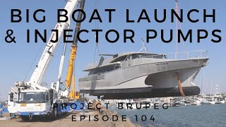 Launching a Wave Piercing Tri-Hull & D722 Kubota Genset Injector Pump Work - Project Brupeg Ep. 104
