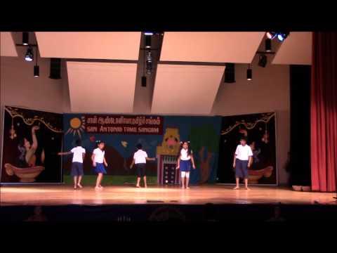 Pallikoodam - Kids Group Dance - San Antonio Tamil Sangam 2015