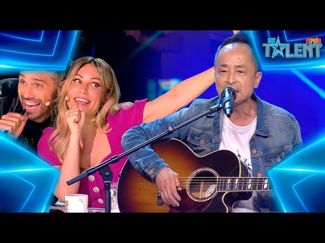 Dani y Edurne cantan con este PECULIAR cantante JAPONÉS   Audiciones 3   Got Talent España 7 (2021)