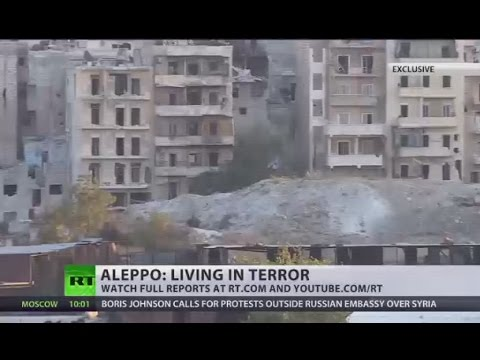 Rebel snipers shoot civilians on Aleppo streets - locals (EXCLUSIVE)