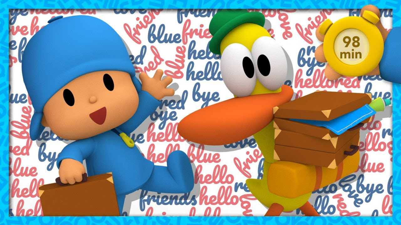 🆒 POCOYO AND NINA - Learning New words [98 min] | ANIMATED CARTOON for Children | FULL episodes