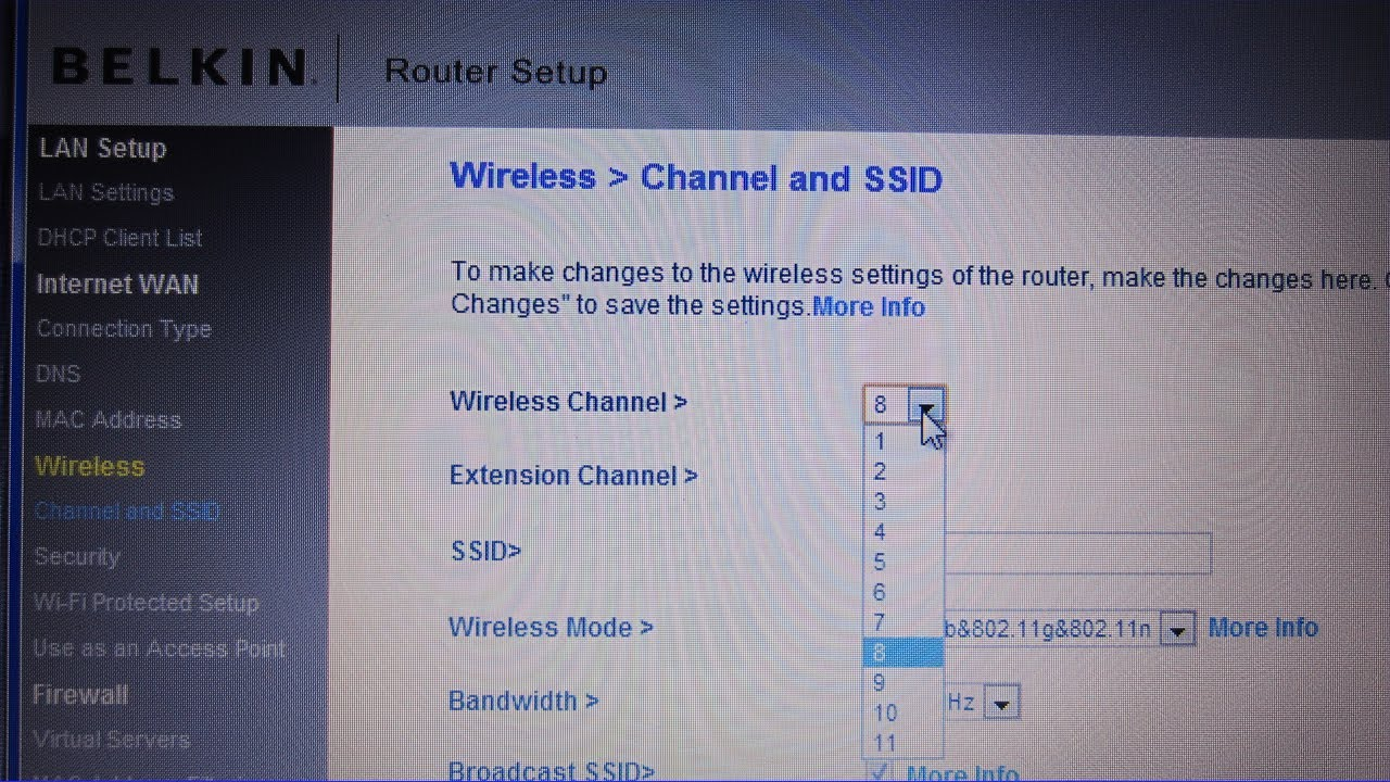 How to Change Your Wireless Channel