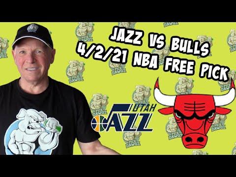 Utah Jazz vs Chicago Bulls 4/2/21 Free NBA Pick and Prediction NBA Betting Tips