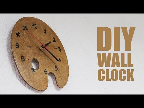 DIY Wall Clock with color plate - Clock Making Ideas