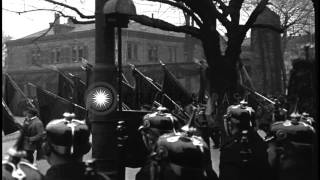 State funeral cortege for German Chancellor Gustav Stresemann. Procession to Luis...HD Stock Footage