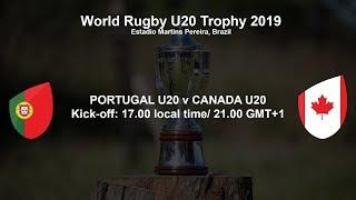 World Rugby U20 Trophy 2019 - Portugal U20 v Canada U20