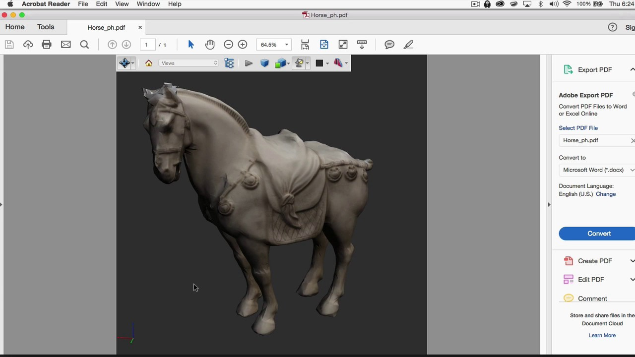 Photoshop CC Tutorial 3D: 3D Model with in a PDF