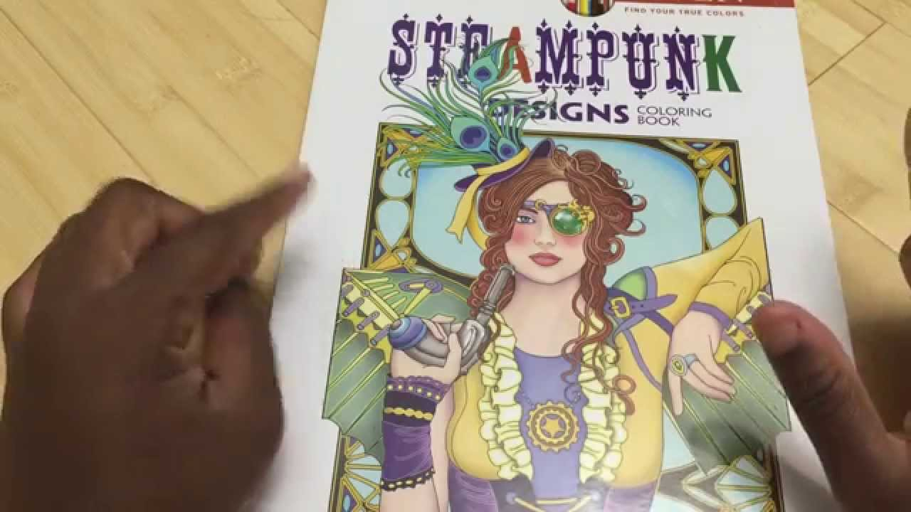 REVIEW Flipthrough Steampunk Designs Adult Coloring Book