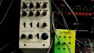 oberheim mini sequencer w arp 2600 and arp sequencer