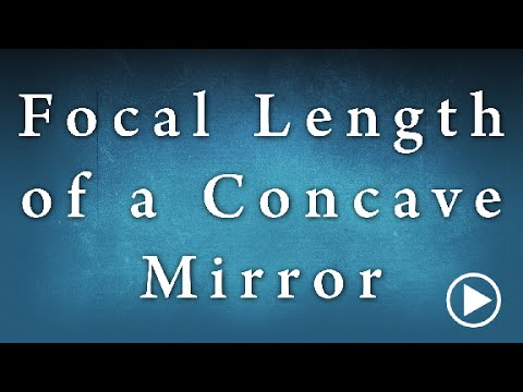 determining the focal length of a convex mirror experiment