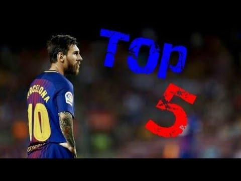 Top 5 des coups-francs tirés par Messi