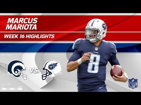 Marcus Mariota Highlights | Rams vs. Titans | NFL Wk 16 Player Highlights