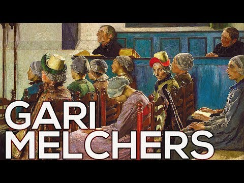 Gari Melchers: A collection of 82 paintings (HD)